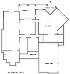 One-of-a-Kind Facade - floor plan - Lower Level Mountain House Plans, Family House Plans, New House Plans, House Floor Plans, Kim House, I Love House, House Design Pictures, Two Story Foyer, Garage Interior