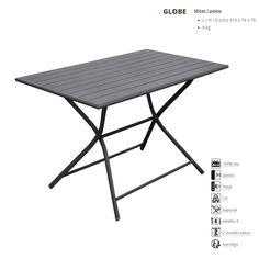 Kaikki kalusteet taittuvat kokoon, jopa pöydät! Runko epoksimaalattua alumiinia. Puutarhakalusteet, taittuvat ulkokalusteet, laadukkaat ulkokalusteet, puutarhapöytä www.tasalankaihdin.fi
