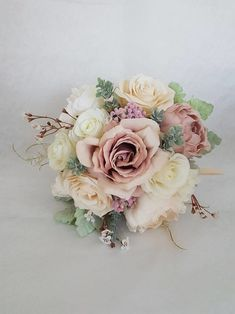 #bouquet con #rose di seta #weddingflowers