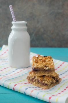 Peanut Butter and Jelly Bars by Pink Parsley Blog
