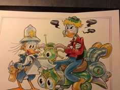 "Donald Duck - ""Veicolo senza targa: multa!"" - Pagina - Catawiki Illustrations And Posters, Donald Duck, Disney, Fictional Characters, Illustrations Posters, Fantasy Characters, Disney Art"
