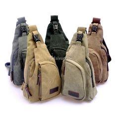 d90d491119fa Stylish Men Vintage Satchel Canvas Cross Body Handbag Messenger Shoulder Bag