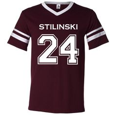 Teen Wolf Beacon Hills Lacrosse Stilinski 24 Unisex Jersey ($20) ❤ liked on Polyvore featuring tops, teen wolf, grey, women's clothing, gray top, jersey knit tops, zipper top, unisex tops y grey top