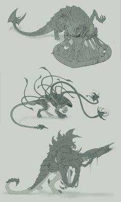 Tyranids concept art class variations Warhammer 40k fanart