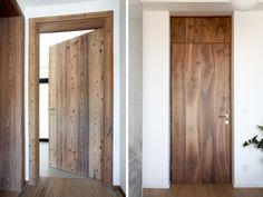 Massivholz Zimmertüren aus Nussbaum und Lärchenholz