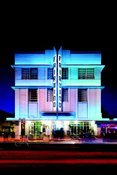 The Art Deco-style Fairwind Hotel on Miami Beach's Collins Avenue was designed by L. Murray Dixon in 1939.