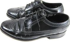 Florsheim Men Shoes Wing Tip Leather Men Oxford  Size 9 EEE Black . #Florsheim #WingTip
