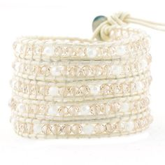 Crystal on White-Ivory Leather