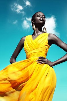 Black Women in Yellow Appreciation Lipstick Alley woman in a yellow dress - Woman Dresses African Beauty, African Fashion, Fashion Models, High Fashion, Women's Fashion, Fashion Spring, Fashion Clothes, Latest Fashion, Fashion Women