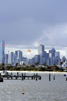 Melbourne from St. Kilda Beach