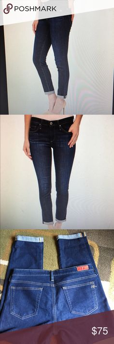 """Adriano Goldschmied jeans 🌸 🌸NWOT🌸The style is the stilt roll-up🌸 cigarette crop roll-up🌸 Jeans are a dark wash🌸 inseam is 25.5""""  🌸 material is 65% cotton 35% poly 🌸 Adriano Goldschmied Jeans Ankle & Cropped"""