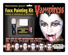 Wolfe Brothers Face Art Wolfe Brothers Vampiress Makeup Kit : Make-up
