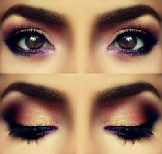 Smokey brown eyes for a dramatic and tempting look.