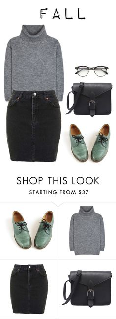 """Junior's ideal type (fall)"" by got7outfits ❤ liked on Polyvore featuring Dr. Martens, Yves Saint Laurent and Topshop"