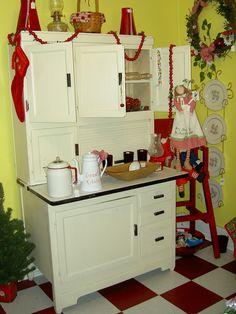 LOVE old Hoosier cabinets
