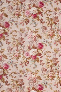 Antique floral fabric SB42 Wide stock photo 19458152 - iStock