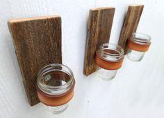 wood, leather, jar = walldeco (diy or buy it ;)