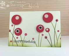 Punched circle flower garden (so I might do this because I wouldn't have to buy any new stamps...)