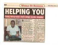 "Sunday World Article ""Best Businessmen"""