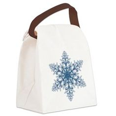 Blue Snowflake Canvas Lunch Bag > Lunch Bags > Atteestude T-Shirts And Gifts  #school supplies