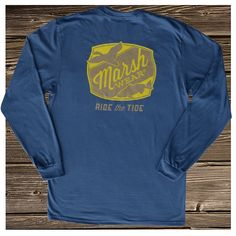 'Fins and Feathers' Pocket T-Shirt, Long Sleeve
