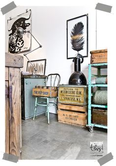An industrial vintage store in Amsterdam