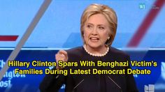 Hillary Clinton Spars With Benghazi Victim's Families During Latest Democrat Debate - YouTube. Two-faced, lying bitch...and idiots love her! Do you people have the capacity to think for yourself...any ounce of intelligence between your ears?!