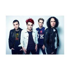 My Chemical Romance ❤ liked on Polyvore featuring mcr, my chemical romance, bands, pictures and photos