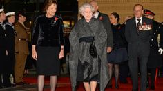 The Queen and Duke of Edinburgh arrive at the Royal Albert Hall for the Festival of Remembrance 9th November 2013