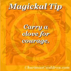 Magickal Tip - Clove for Courage – Charissa's Cauldron
