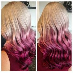 Blonde to pink ombre love it! ❤