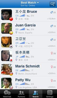 Hello Talk - App para el intercambio de idiomas, nos gusta! Encuentras personas de todo el mundo para chatear y  los mensajes se traducen instantáneamente.