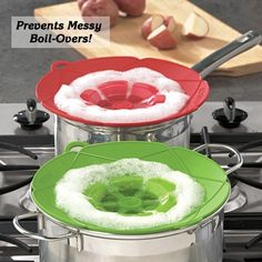Spill Stopper Kitchen Hacks, Kitchen Gadgets, Kitchen Tools, Kitchen Ideas, House Gadgets, Kitchen Things, Cooking Gadgets, Cooking Tips, I Love Food