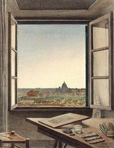 © Constant Moyaux - Veduta di Roma dalla sala dell'artista a Villa Medici ( 1863)