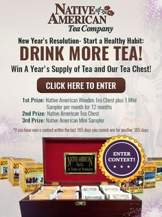 I just entered to win a year's supply of tea at NativeAmericanTea.com.  #startahealthyhabit http://startahealthyhabit.nativeamericantea.com/ref/D876587