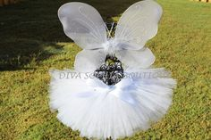 Angel Wings with Tutu -  Butterfly Tutu Set - Newborn - Baby Infant Toddler up to size 4T on Etsy, $26.00