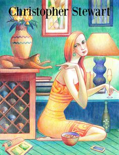 Me Time - March 2016 Cat Wine, Portfolio Covers, Wine Art, Wine Time, Wine And Spirits, Art Day, All Art, No Time For Me, Cover Art