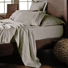 Outfit your bed in relaxed luxury, courtesy of these linen sheets,
