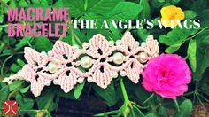 DIY macrame bracelet - the wings of angel - easy tutorial by tita