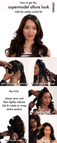 Learn how to get supermodel allure look (plus tips and tricks!) with the #Amika Switch Kit #howto #getthelook #hair #hairstyles #Sephora