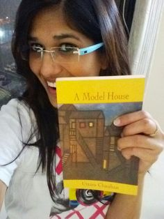 Our winner of #CrazyFriendship Contest, Vibha Sharma, with the book, 'A Model House'!