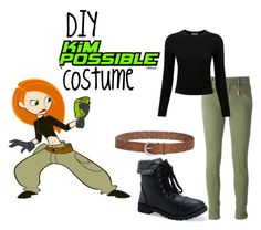 """DIY Kim Possible Halloween Costume"" by alove1812 ❤ liked on Polyvore featuring Disney, Lucky Brand, Polo Ralph Lauren, Pure Collection, Aéropostale and ItsHalloweenWithAubrey"