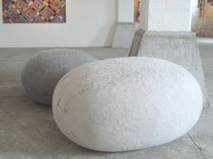 Felted rock cushions by South African designer Ronel Jordaan