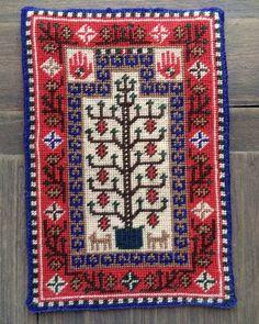 Baluchi Prayer Rug stitched by Nancy Enge - Needlepoint - Gallery - IGMA Fine Miniatures Forum