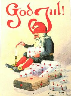Julekort Einar Torsslow brukt 1917