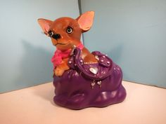 AYE CHIHUAHUA-Handbag Pup Figurine By Westland-New In Box - http://collectiblefigurines.net/aye-chihuahua/aye-chihuahua-handbag-pup-figurine-by-westland-new-in-box/
