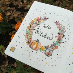 🍂Hello October!🍁 Surprise me with your love and happiness!😍 ✨ ✨ ✨ #littlemore #littlemoreplanner Bullet Journal Cover Ideas, Bullet Journal Notebook, Bullet Journal Spread, Journal Covers, Bullet Journal Inspiration, Book Journal, Journals, Filofax, Big Birthday Cards