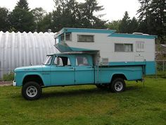 1965 Dodge Crew Cab Power Wagon 4X4,With 1963 Kamp King Koaches Camper, image 1