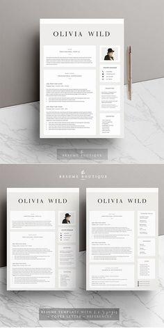 Executive Resume Template | Professional C-Level Resume Template for Word & Pages Executive Resume Template, Modern Resume Template, Resume Template Free, Page Template, Cv Cover Letter, Cover Letter Template, Letter Templates, Photoshop, High School Resume