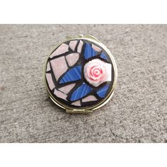 Rose Mosaic Mirror Compact ($29) ❤ liked on Polyvore featuring beauty products and beauty accessories